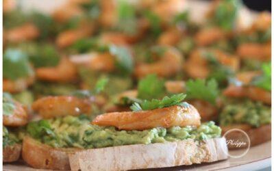 Recipe   Smoked prawn with avocado crostini