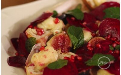 Recipe | Grilled Goats cheese salad with beetroot, figs and mint