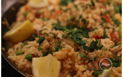 Prawn, chicken and chorizo paella recipe