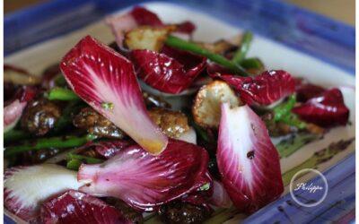 Asparagus and roasted Jerusalem artichoke salad recipe