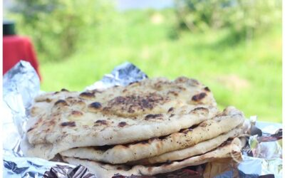 Barbecued flatbread with sprinkles recipe