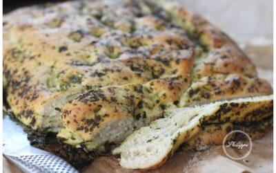 Wild garlic and lemon risotto and wild garlic pesto bread